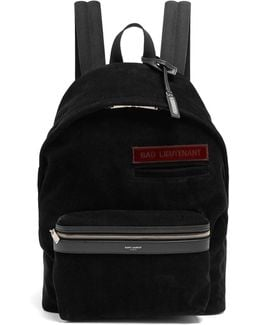 Leather-trimmed Cotton-corduroy Backpack