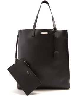 Logo-plaque Leather Tote