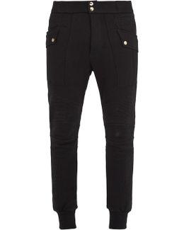 Contrast-panel Cotton Track Pants