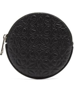Logo-debossed Leather-circle Coin Purse