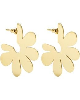 Flower Small Gold-plated Earrings