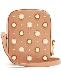 Stud-embellished Leather Cross-body Bag