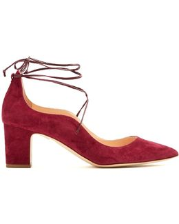 Poet Point-toe Suede Pumps