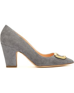Pierrot Pebble Point-toe Suede Pumps
