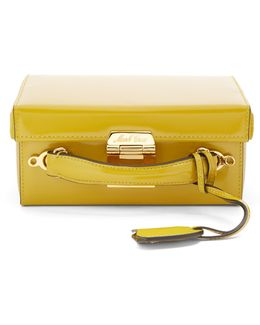 Grace Small Patent-leather Box Bag