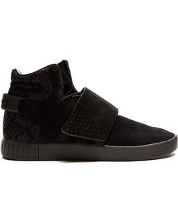 Tubular Invader High-top Suede Trainers