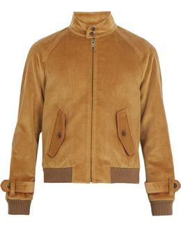 Stand-collar Cotton-corduroy Jacket