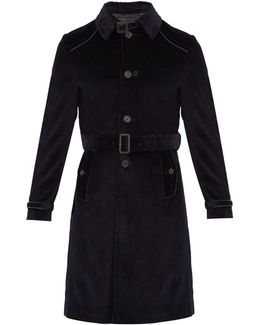 Belted Cotton-corduroy Coat