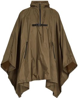 Self-stowing Hooded Cape