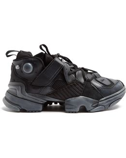 X Reebok Genetically Modified Leather Trainers