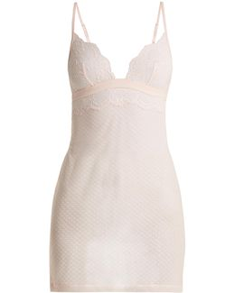 Tuberose Lace-trimmed Cami Dress