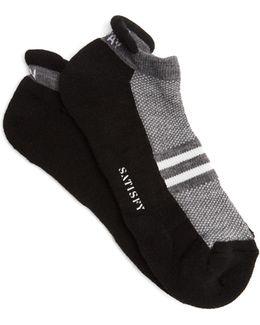 Patchwork Tube Ankle Socks
