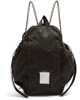 Bombardier Camouflage-print Nylon Backpack