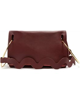 Ring-handle Leather Tote