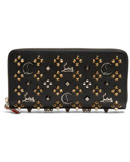 Panettone Embellished Zip-around Leather Wallet