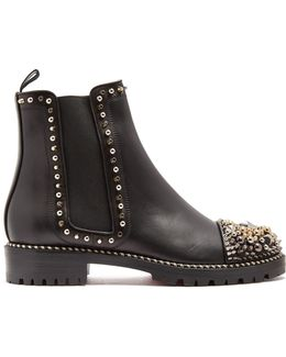 Chasse Embellished Leather Chelsea Boots