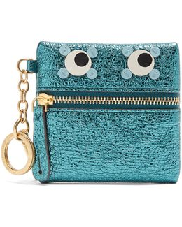 Eyes Crinkled-leather Coin Purse