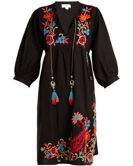 Emile Embroidered Linen Dress