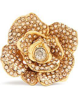Rosette Crystal-embellished Ring