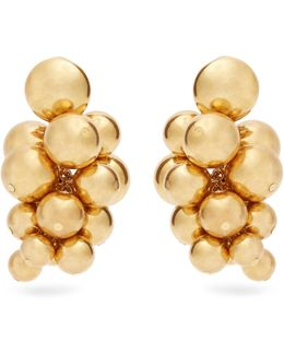 Sphere-embellished Cluster Clip-on Earrings