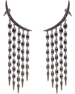 Tendril Crystal-embellished Earrings