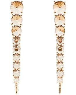 Tendril Crystal-embellished Drop Earrings