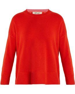Crew-neck Cashmere-knit Sweater