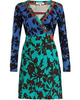 Brulon Foliage-print Silk Wrap Dress