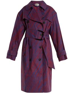 Visconti-print Cotton-blend Trench Coat