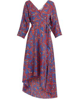 Elsden-print Silk-crepe Wrap Dress