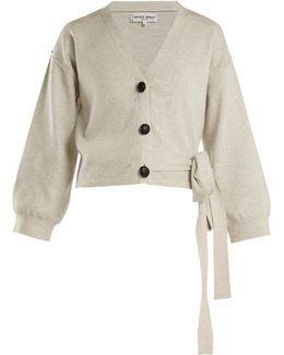Side-tie Cotton And Cashmere-blend Cardigan