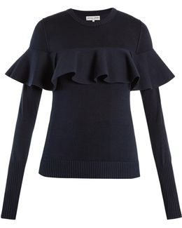 Ruffled Cotton-blend Sweater