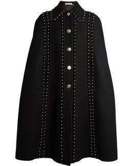 Serena Stud-embellished Cape
