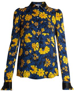 Marlowe Floral-jacquard Blouse