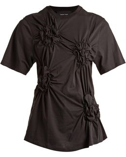 Smocked-front T-shirt