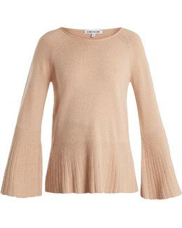 Clarette Wide-sleeve Knit Sweater