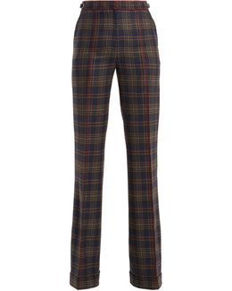 Shipton Straight-leg Checked Wool Trousers