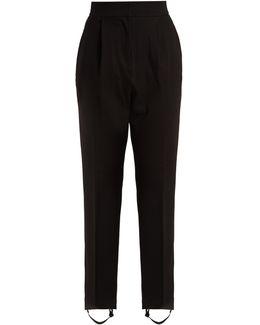 Stirrup-hem Jersey Trousers