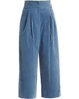 Bianca Wide-leg Cropped Trouser