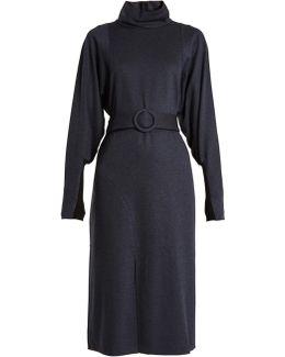 Calvary High-neck Stretch-twill Dress