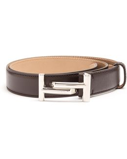 Double T Leather Belt