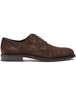 Lace-up Suede Derby Shoes