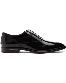 Lace-up Patent-leather Derby Shoes
