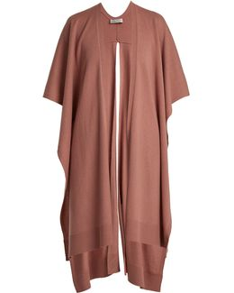 Slit-hem Wool And Cashmere-blend Poncho