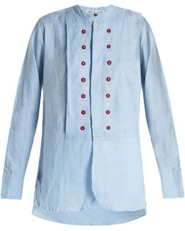 Battle Embroidered Linen Shirt