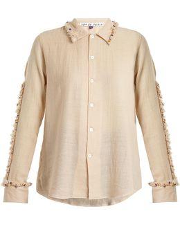 Diwali Embroidered-frill Wool Shirt