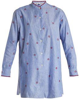 Coachella Striped Cotton-poplin Shirt
