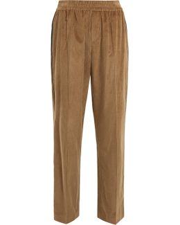 Side-stripe Wide-leg Corduroy Trousers