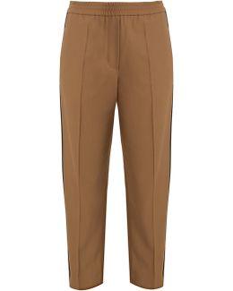 Slim-fit Contrast-stripe Trousers