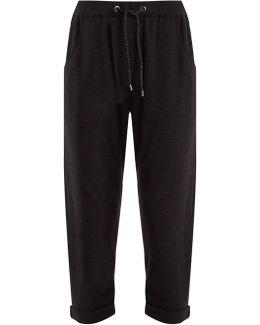 Embellished-pocket Cashmere Track Pants